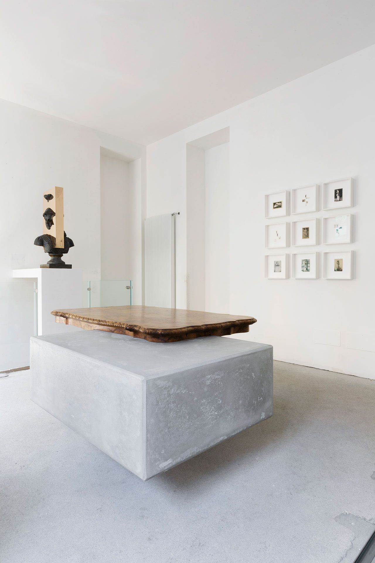 Nucleo (Piergiorgio Robino + Marzia Ricci), U201cBooleanu201d And (Table), 2017.  Concrete, Vintage Furniture, 204 X 142 X 80h Cm. Unique Piece.