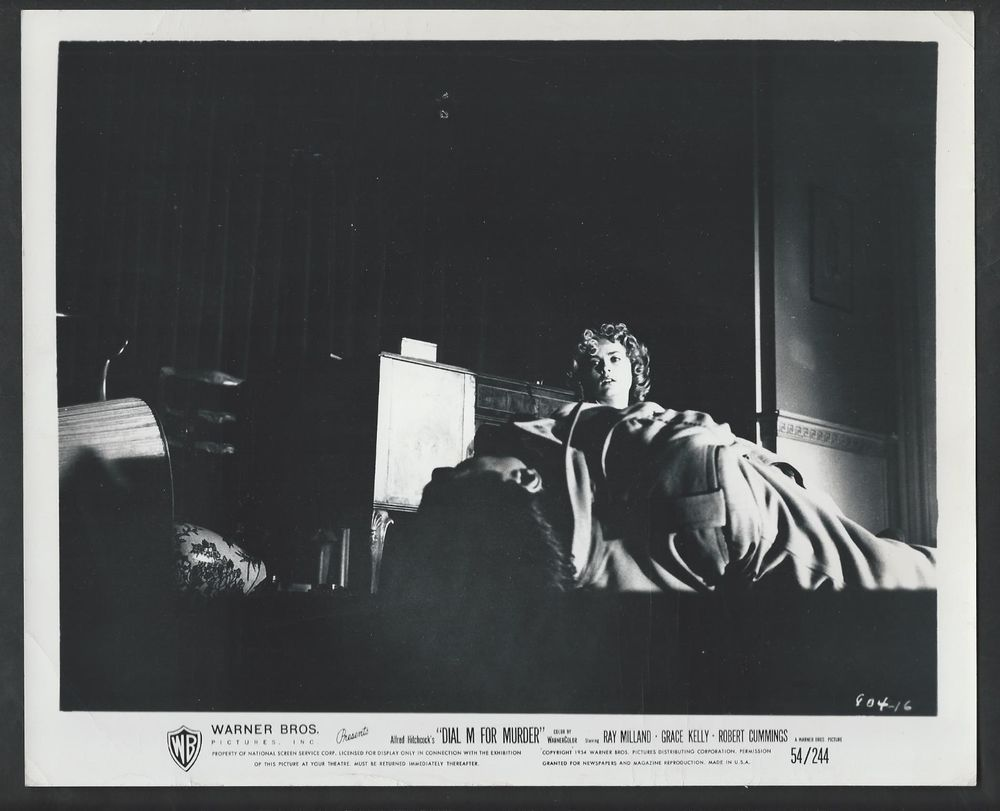 TWO (2) 1954 GRACE KELLY ORIG DIAL M FOR MURDER PHOTOS ALFRED HITCHCOCK