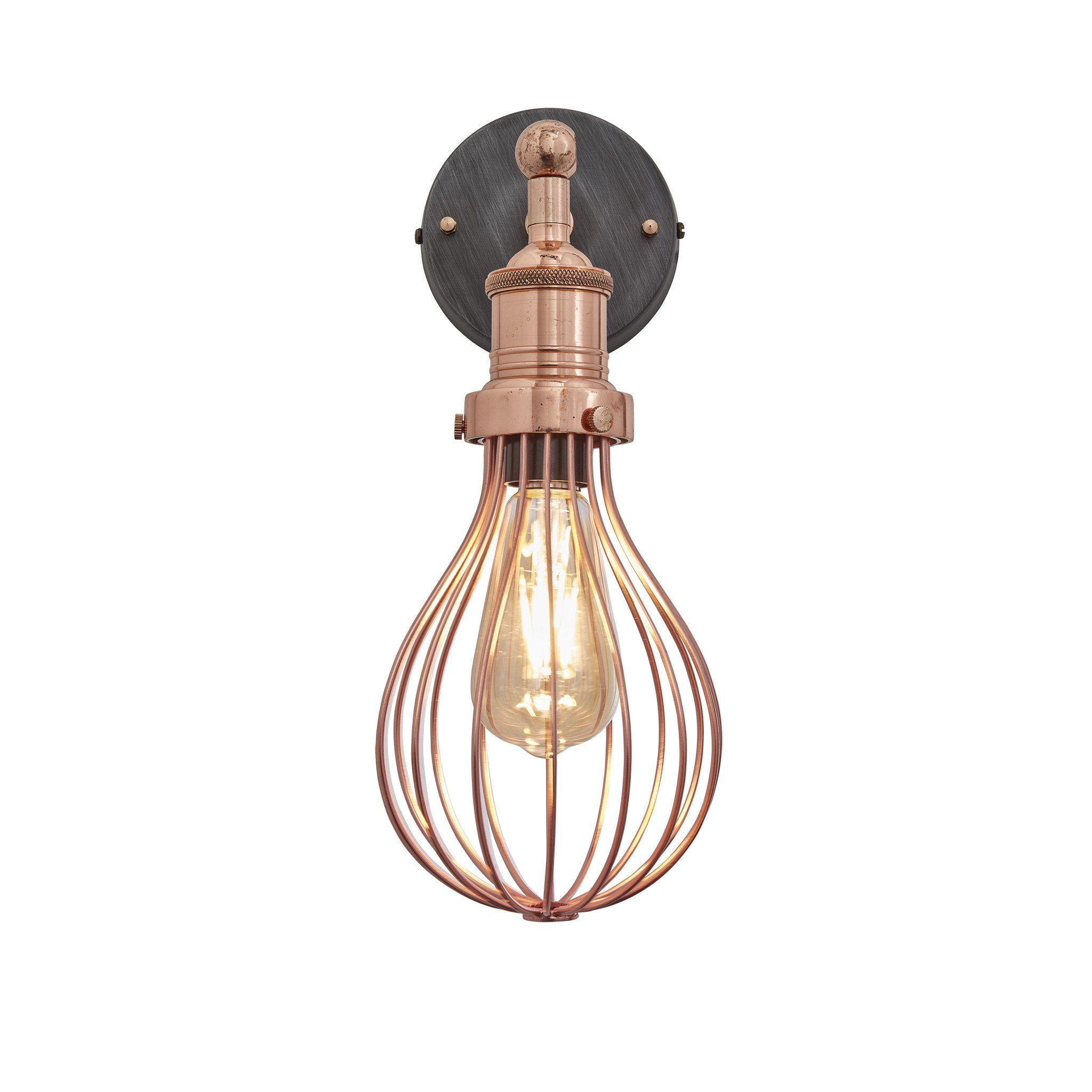 Vintage balloon cage retro sconce wall light copper balloon wall our balloon wall light can also come supplied with a pewter holder https arubaitofo Choice Image