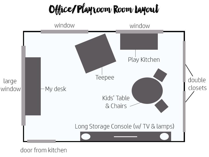 Office Playroom Layout