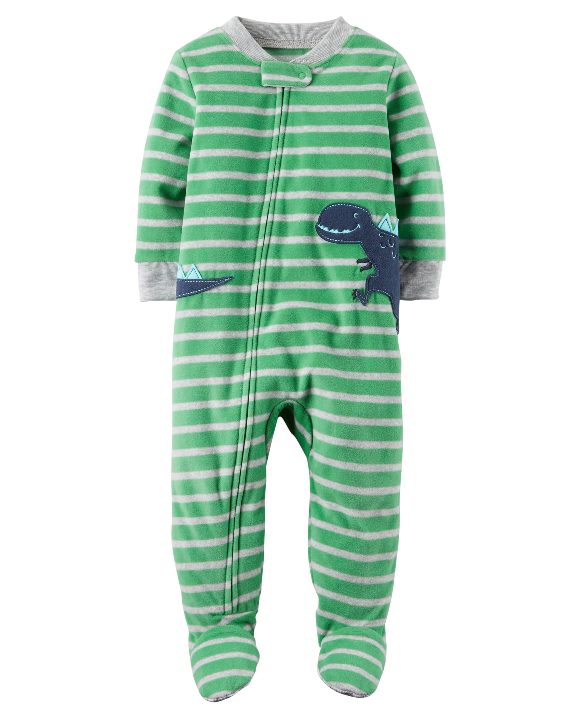 9be736ed0 1-Piece Dinosaur Fleece PJs