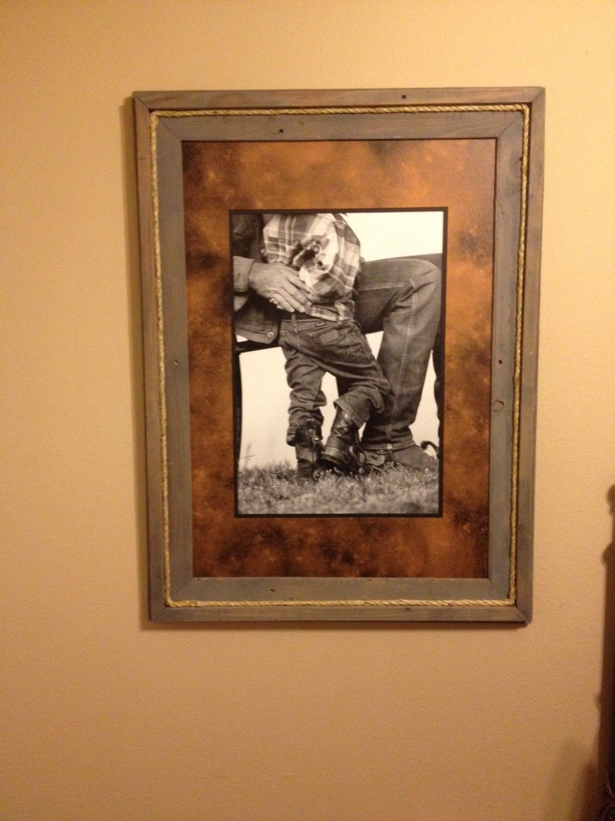 Tin Star Furniture In Denison TX Supplied The Picture And Matte For This  Custom Frame.