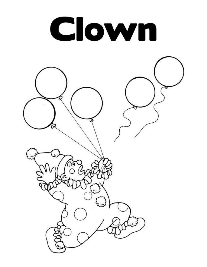 Free Printable Clown Coloring Pages For Kids Coloring Pages For Kids Coloring Pages Coloring Books