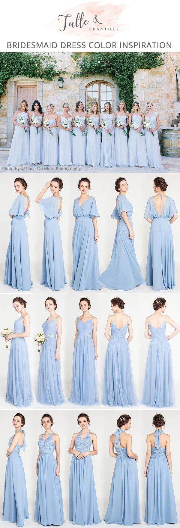 Light blue bridesmaid dresses myweddingplanner pinterest