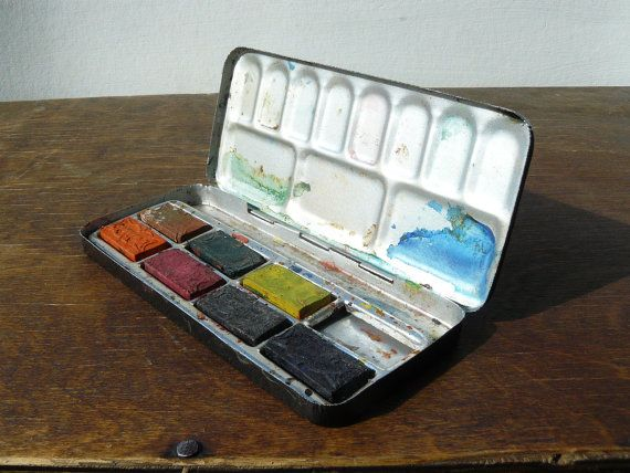 Soviet Watercolour Palette With Metal Box Ussr By Atticspider