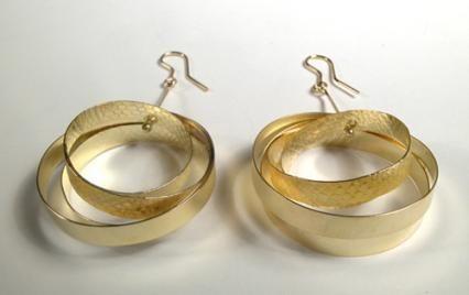 TATJANA PANYOCZKI-NZ: Earrings - Loosely wrapped gold hoops. 18ct gold, 2011,