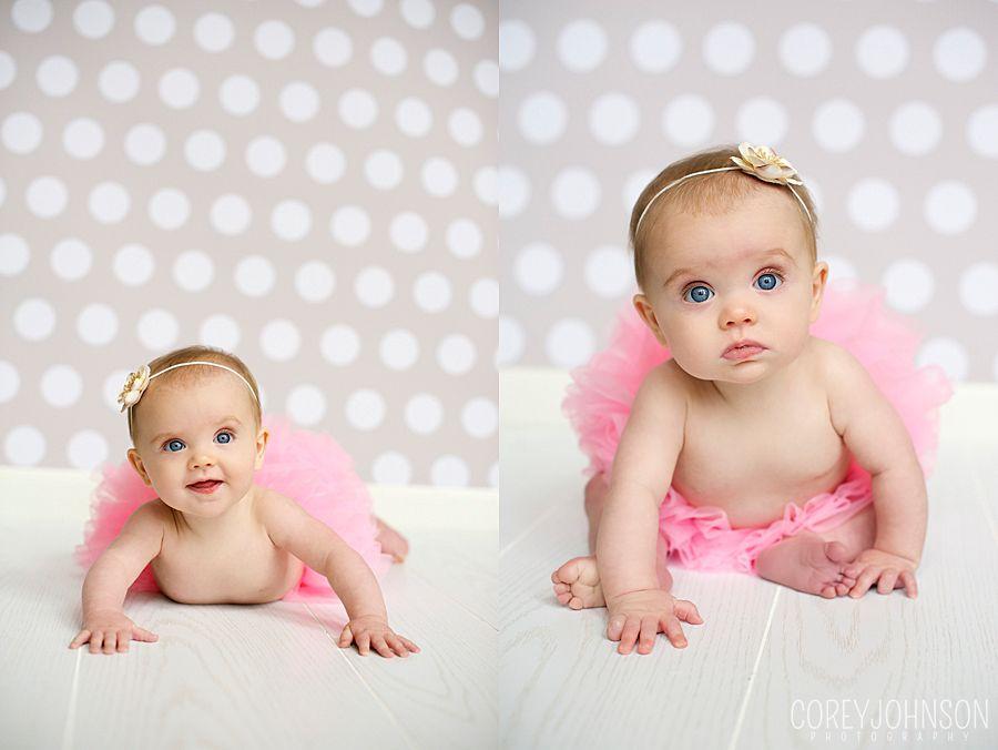 6 months girl photo baby girl in tutu corey johnson photography north atlanta