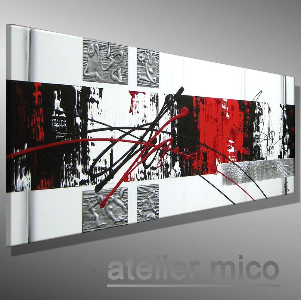 Original Acrylbild Struktur Leinwand Gemälde KUNST Bilder abstrakt ...