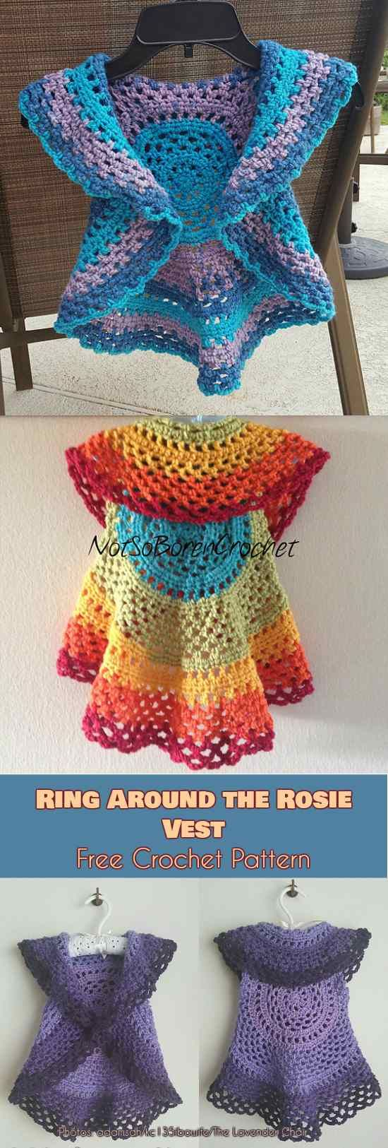 Ring Around Rosie Vest for Kids and Adults Free Pattern | Jacke ...