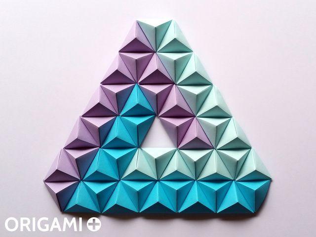 Pyramid Pixels for 3D Paper Wall Art - step 3 | creativo | Pinterest ...