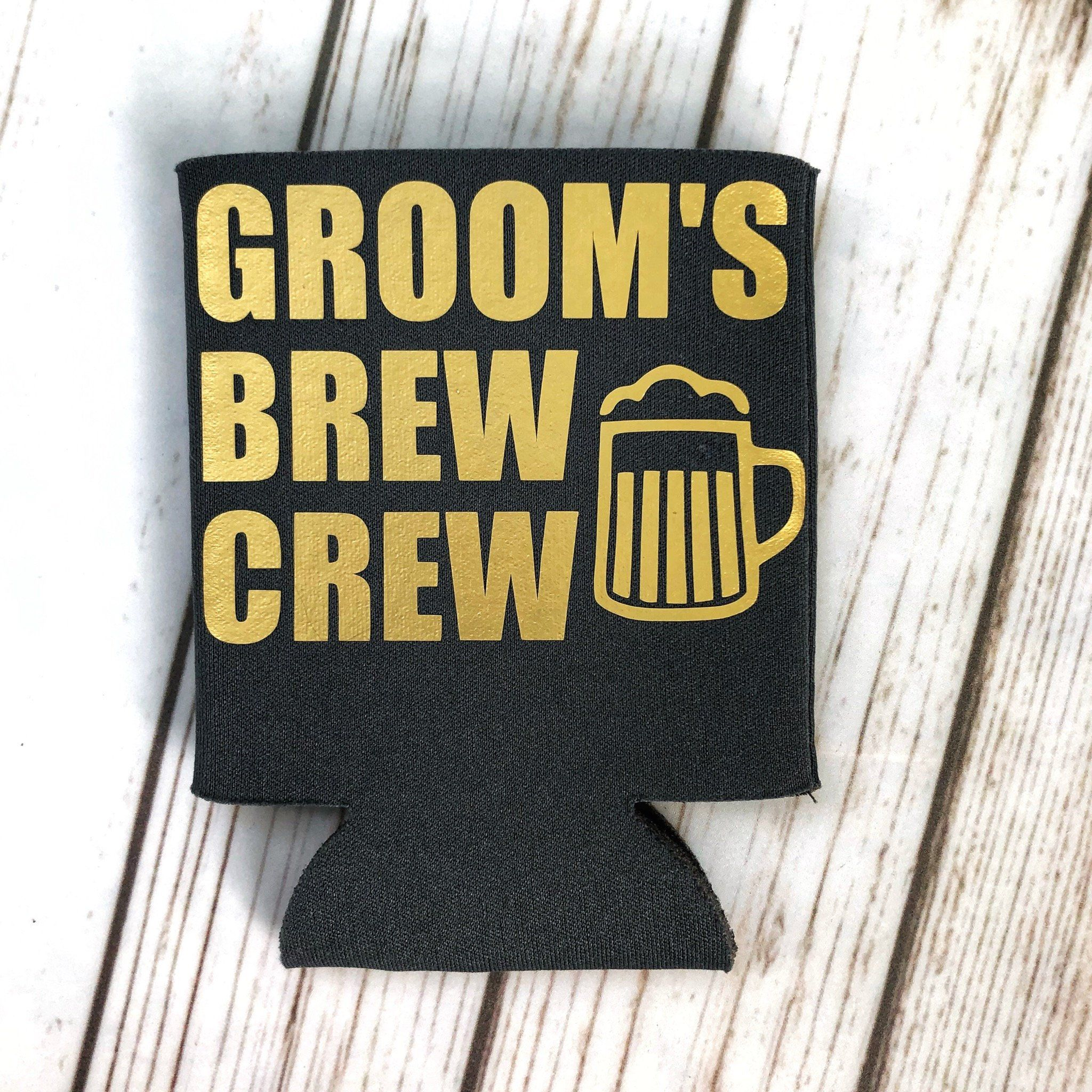 Bachelor party favors bachelor can coolers brew crew