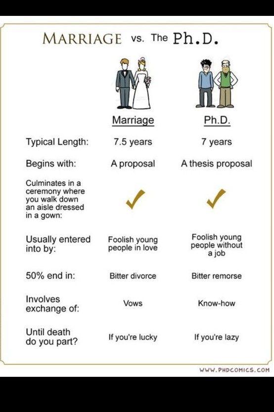 Thesi On Marriage Phd Humor Comic Dissertation Motivation Math