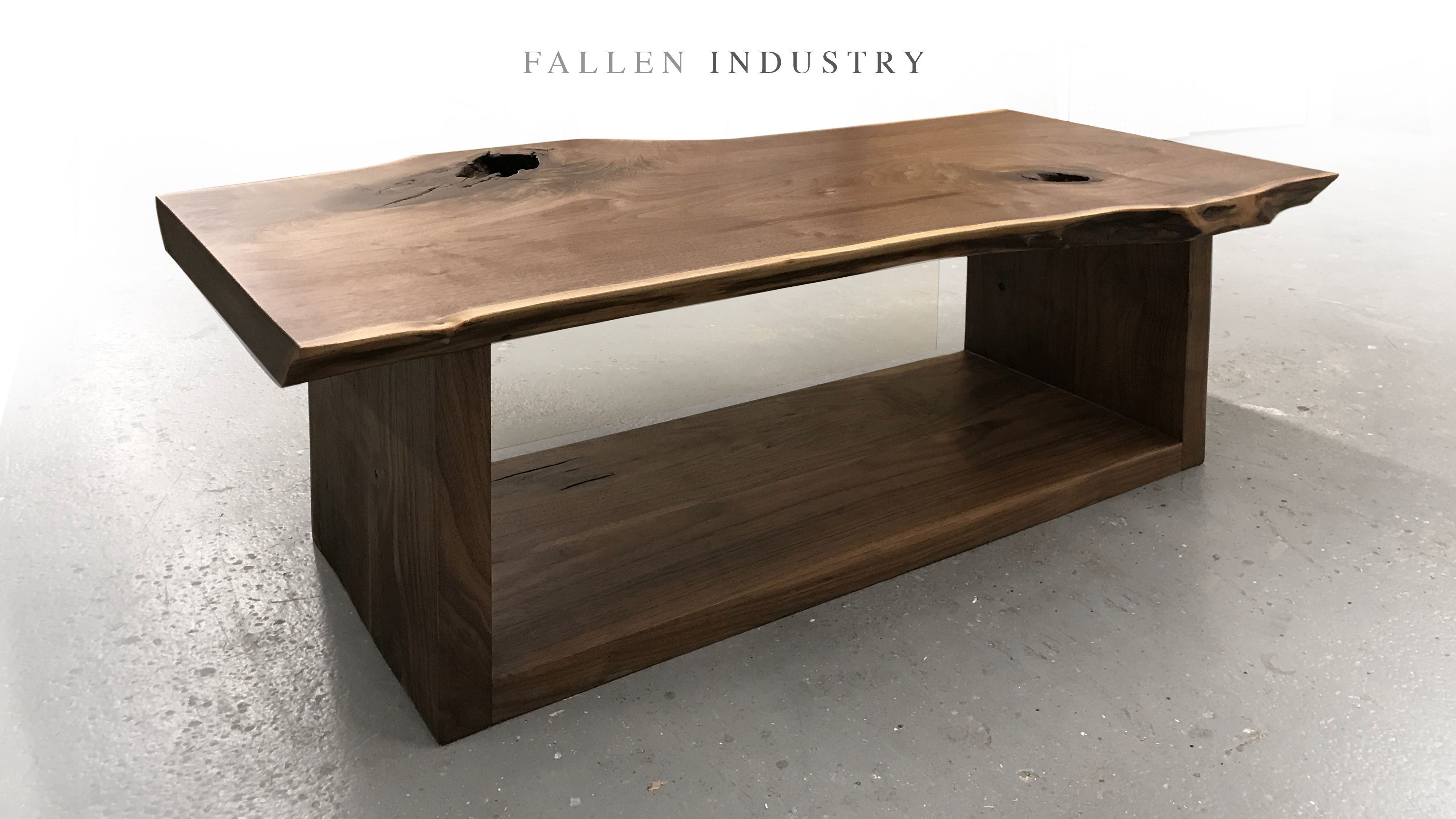 Live Edge Walnut Storage Coffee Table Cool Custom Furniture And Architectural Elemen Reclaimed Wood Furniture Coffee Table With Storage Live Edge Coffee Table [ 2268 x 4032 Pixel ]