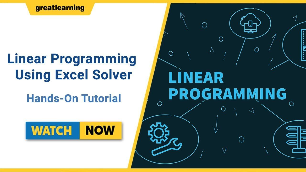 linear programming (lp) with excel solver - hands-on | ms excel
