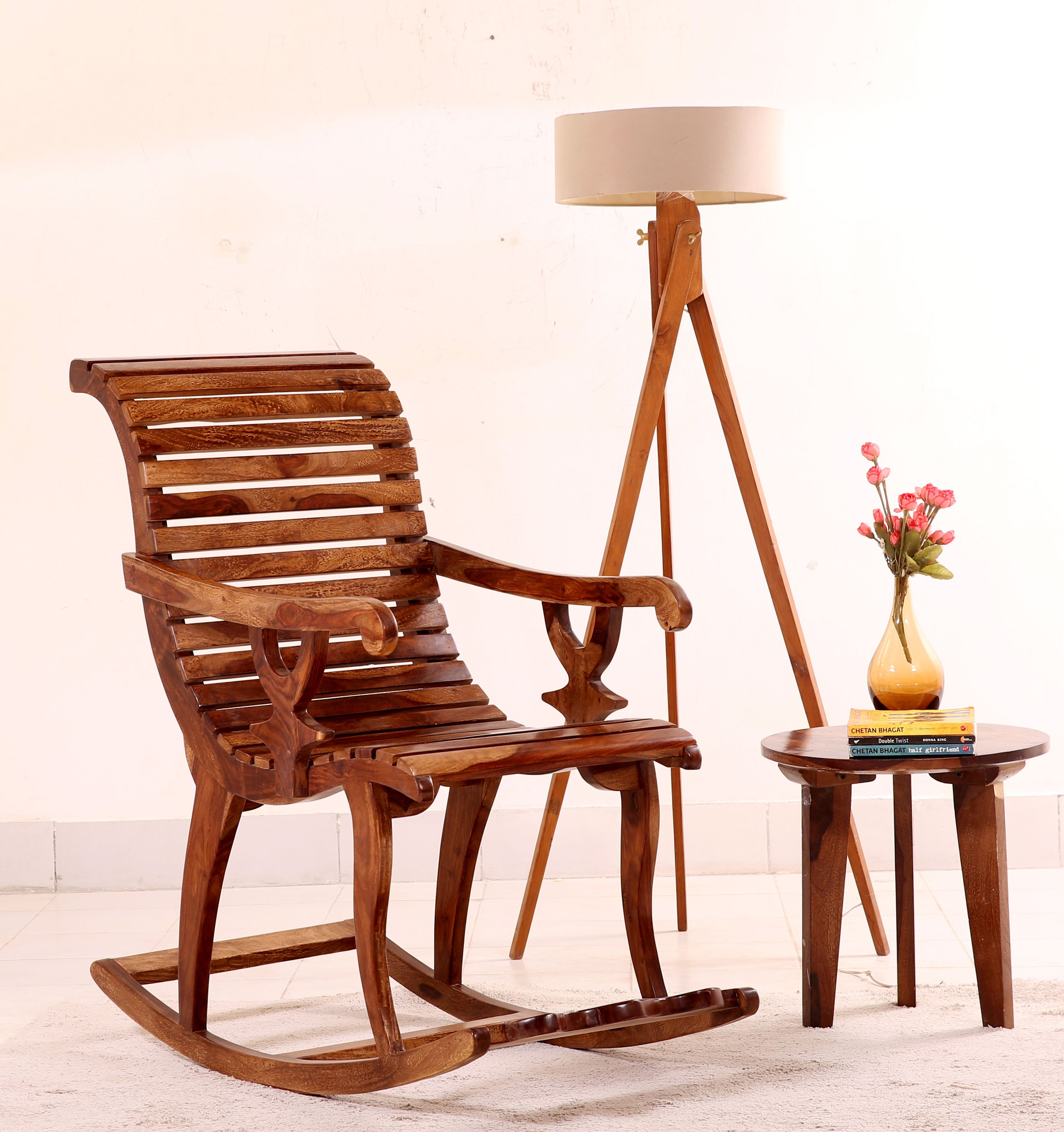Buy Vivian Rocking Chair (Teak Finish) Online in India