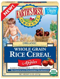 Earth S Best Organic Baby Rice Cereal Breast Feeding Baby Food