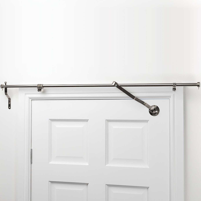 Satin Steel Door Curtain Pole