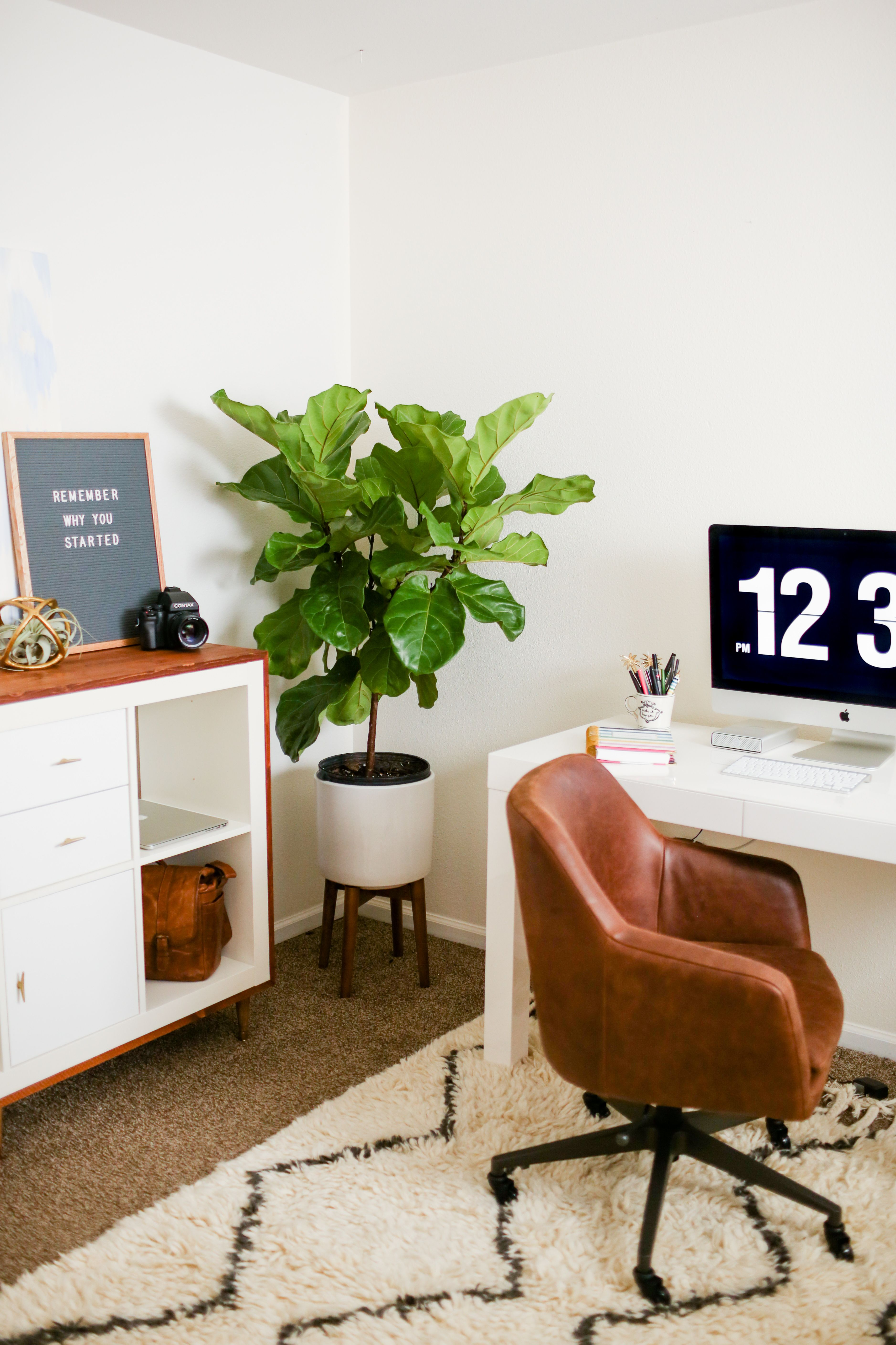 Mid Century Modern Ikea Hack For My Office Modern Office Decor
