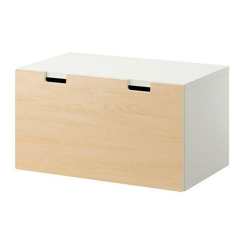 stuva banc avec rangement blanc bouleau blanc bouleau 90x50x50 cm id es pour la maison. Black Bedroom Furniture Sets. Home Design Ideas