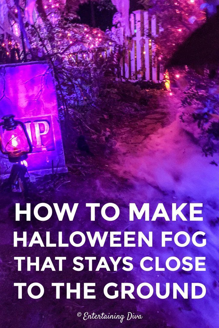 Using a fog machine with this DIY fog chiller is one of the easiest Halloween fog machine ideas I've seen for creating low lying fog. It works perfectly for a Halloween graveyard or party.   Halloween Decor