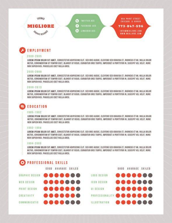 37 stylish resume templates job pinterest resume templates