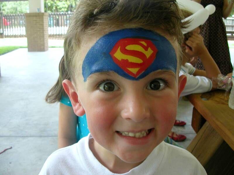 Face Painting Photos Superhero Face Painting Superman Face Painting Face Painting Easy