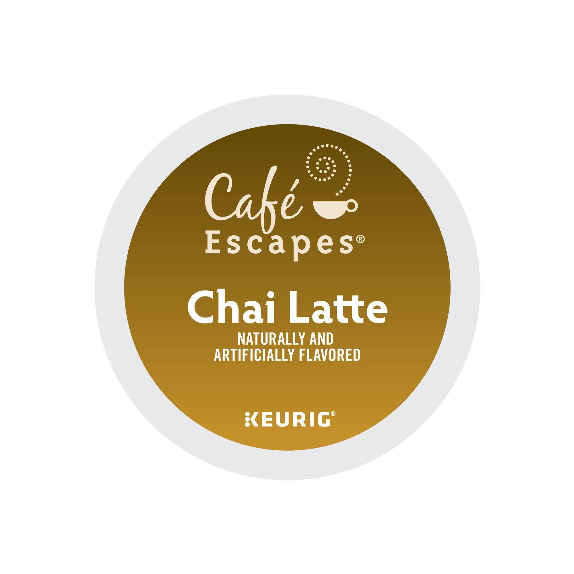 Cafe Escapes Chai Tea Latte Keurig KCups 72 Count * Want