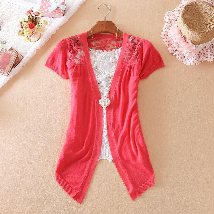 Lindo cardigan, todo rendado nas costas. Disponível nas cores: vermelho, branco e preto. Apenas R$49,90! www.coute.com.br