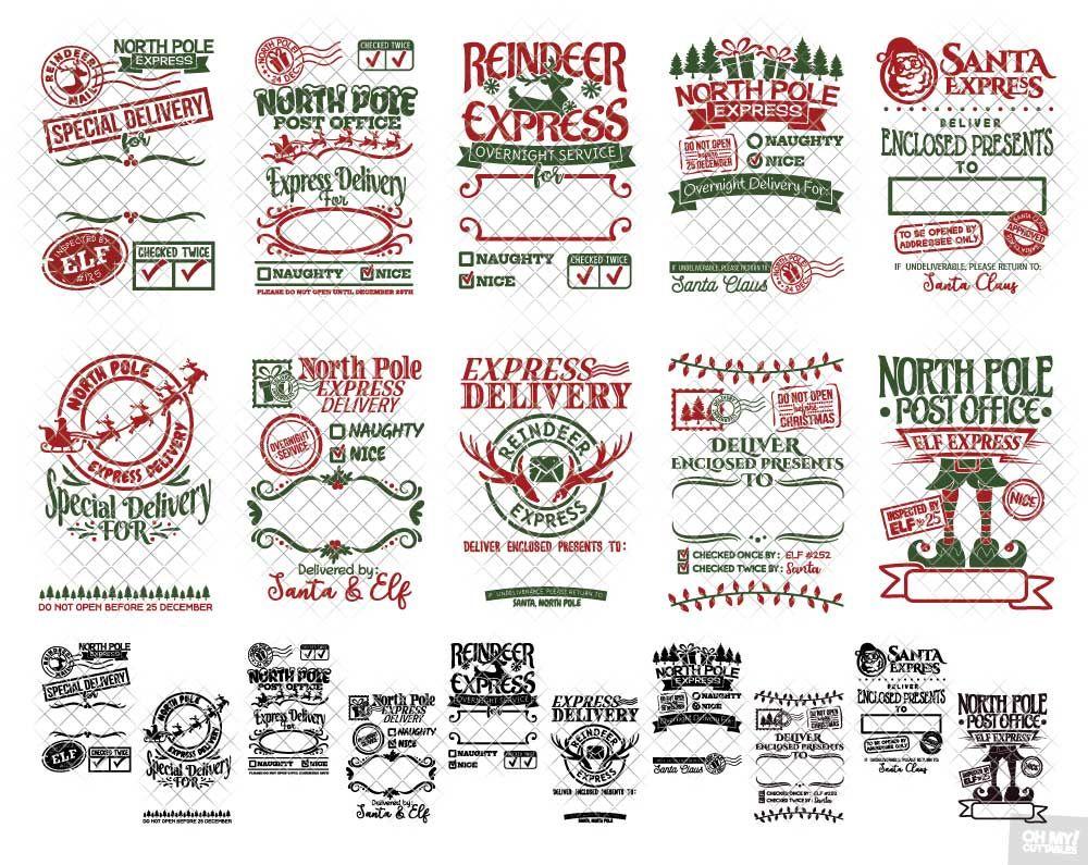 Santa Sack SVG File Vol. 2 in SVG/DXF/EPS/JPG/PNG (With