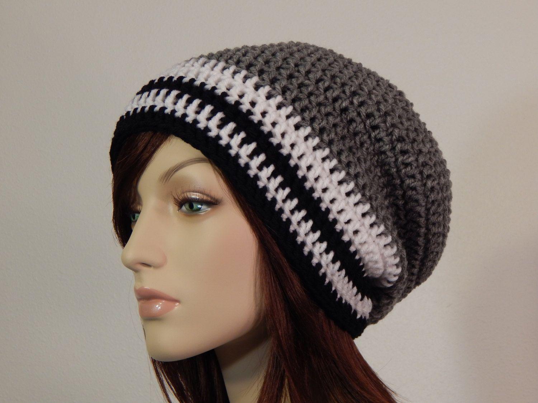 Crochet PATTERN PDF, The Chill Slouch Beanie, Unisex Slouchy Hat, Winter Hat, Ladies Crochet Hat Pattern, Mens Crochet, MarlowsGiftCottage #menscrochetedhats