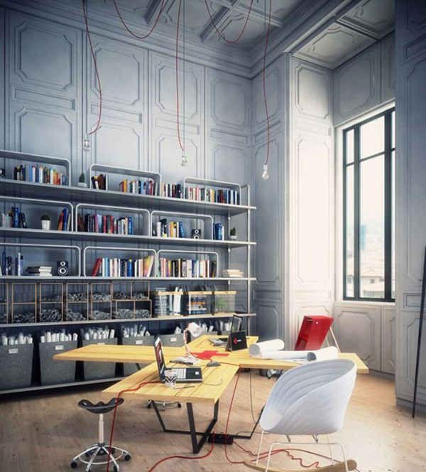 Romantic Art Studio Utilitarian Material And Office Storage