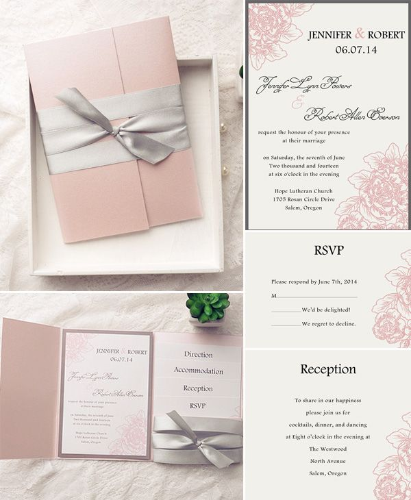 how to assemble your wedding invitations with pockets - Blush Wedding Invitations