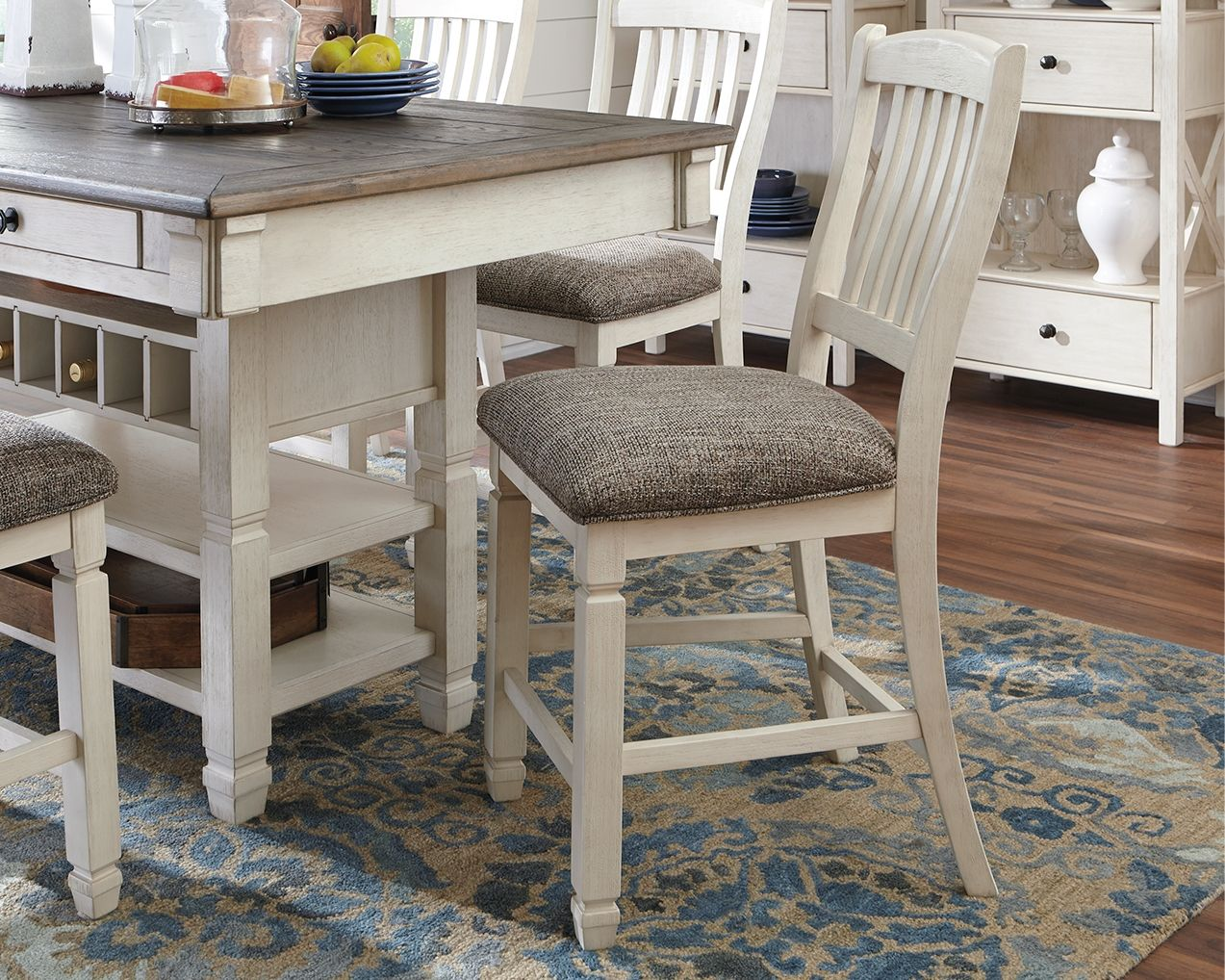 Bolanburg Counter Height Bar Stool Set Of 2 Two Tone Counter