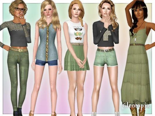 Sims  Top Clothing Clothes Fashion Females