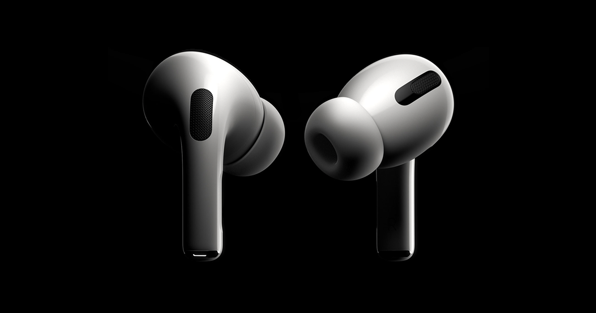 Introducing Airpods Pro Active Noise Cancellation Transparency Mode And A Customisable Fit All In An Incredibly Li Airpods Pro Headphones Iphone Headphones