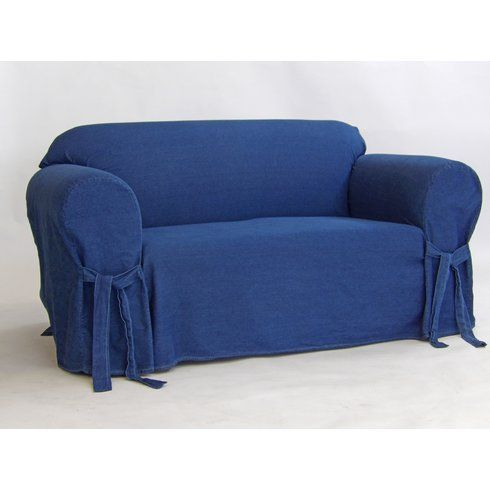 Prime Authentic Box Cushion Loveseat Slipcover Lobster Lane Caraccident5 Cool Chair Designs And Ideas Caraccident5Info