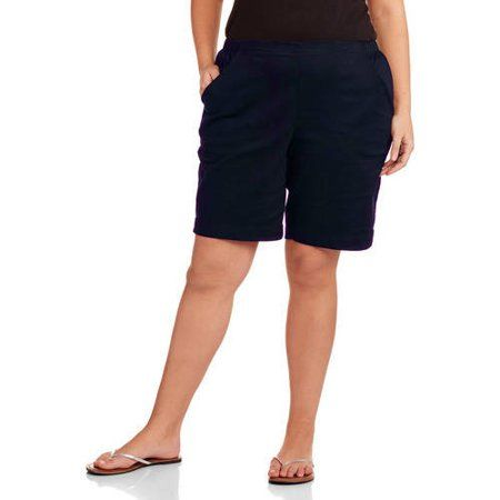 8a82c532360 Women s Plus-Size 2 Pocket Pull-On Shorts Image 1 of 1 Just My