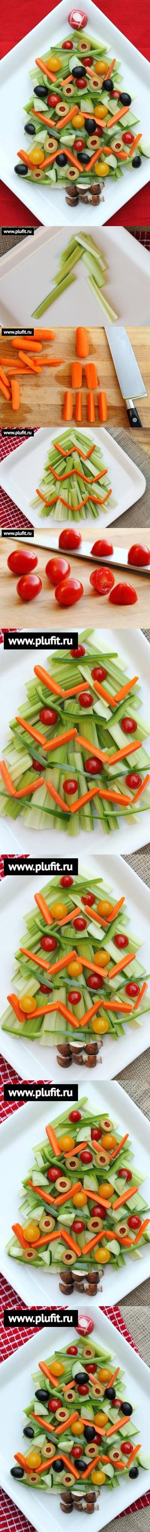 Árbol de Navidad de vegetales