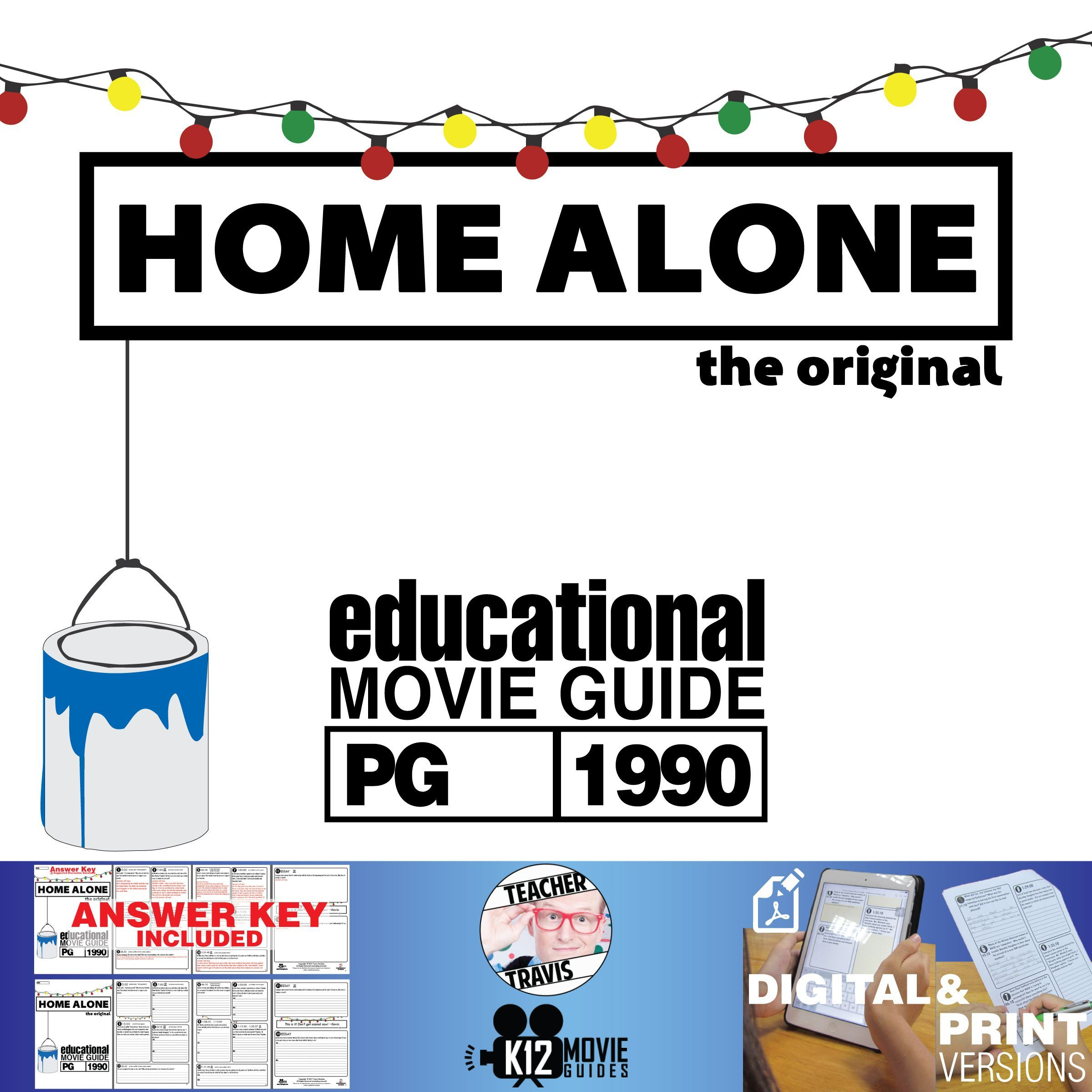 Homealone Movie Guide Questions Worksheet Pg