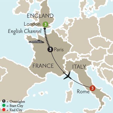 Flight from london to paris