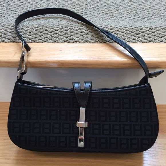 15d2c85d4c3c ... ebay black fendi style fabric baguette handbag bd5dd 14a9c cheapest  fendi women kan i small leather shoulder ...