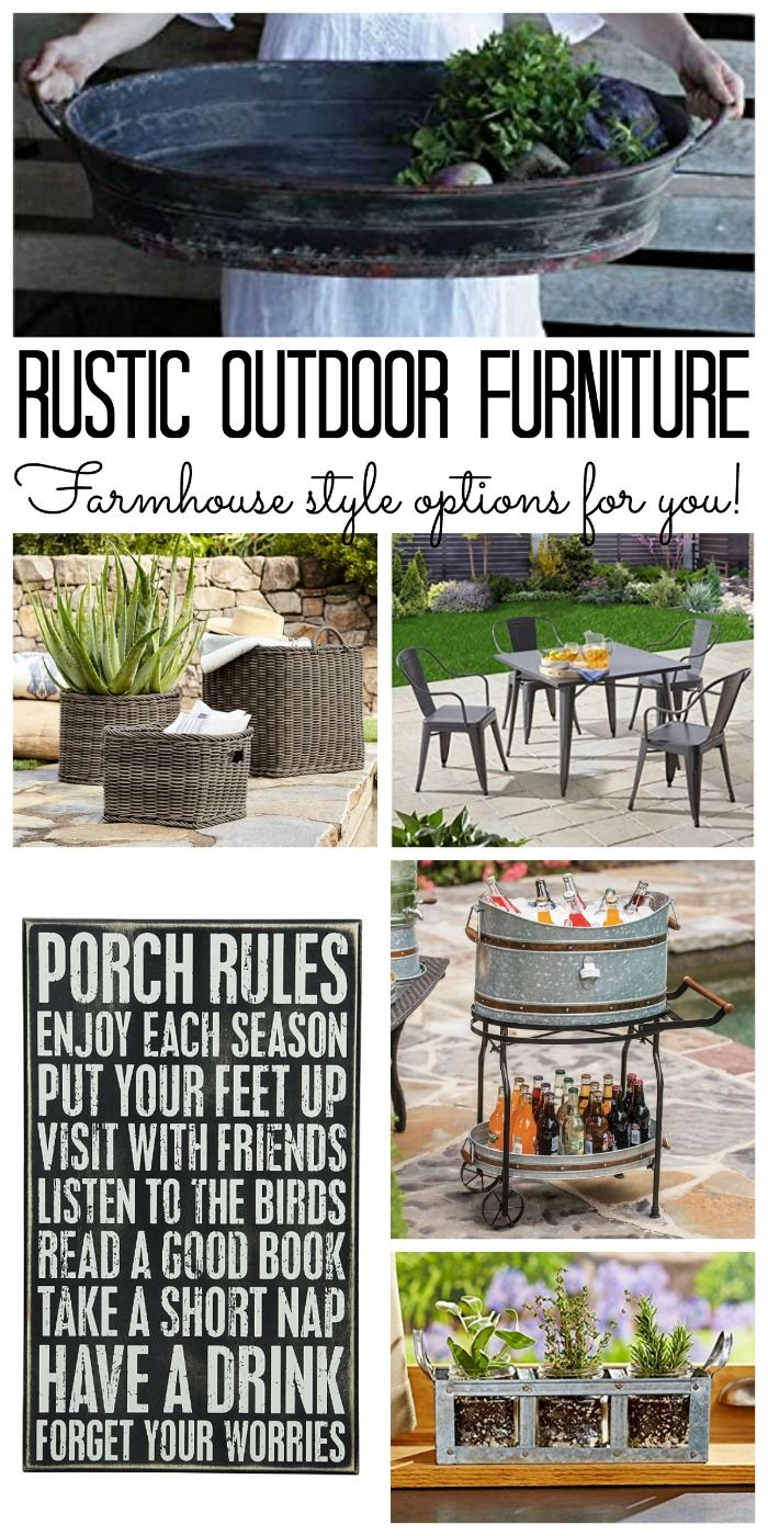 Rustic Outdoor Furniture Options With Farmhouse Style Order Online And Have It Delivered