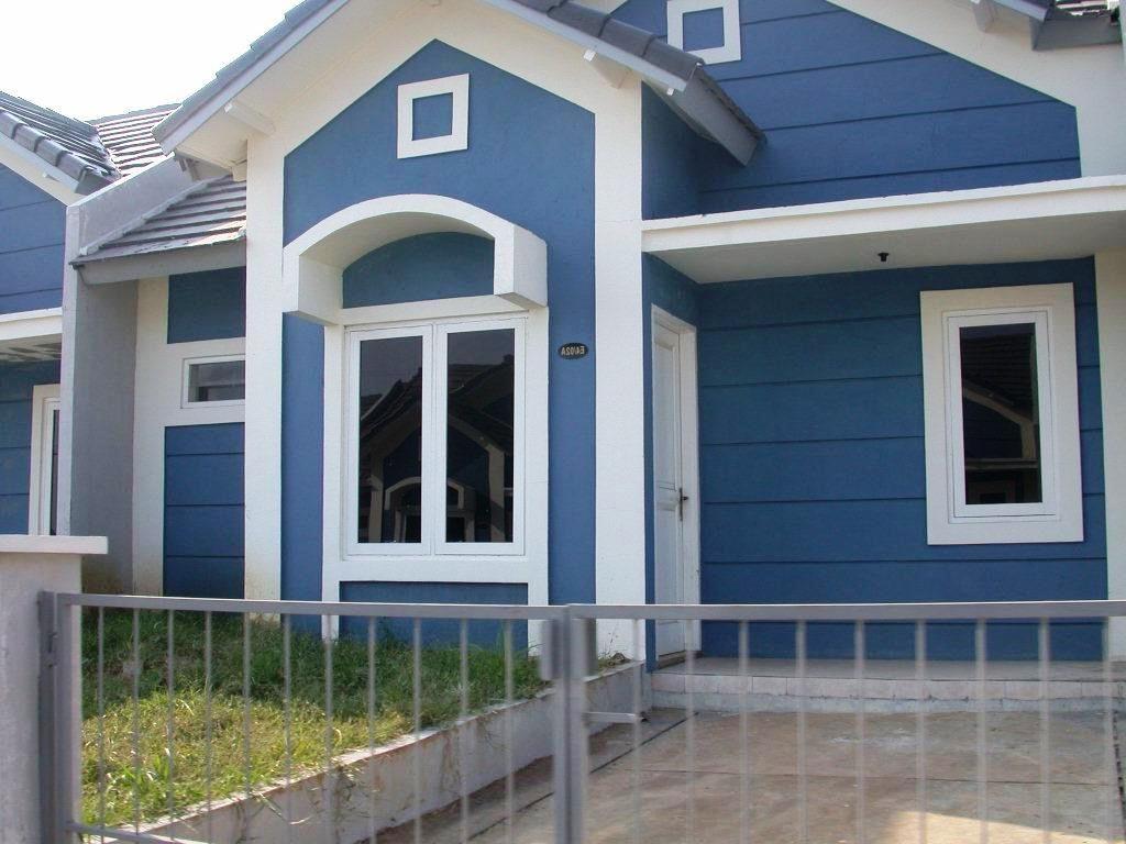 Kombinasi  Warna  Rumah  Biru Putih Warna  Cat  Rumah