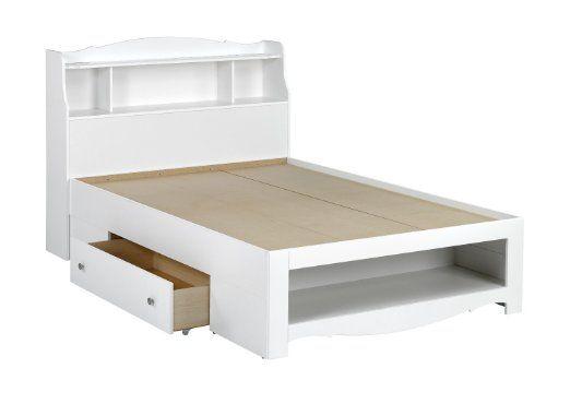 Amazon Com Nexera 315403 Dixie 54 Inches Full Size Storage Bed