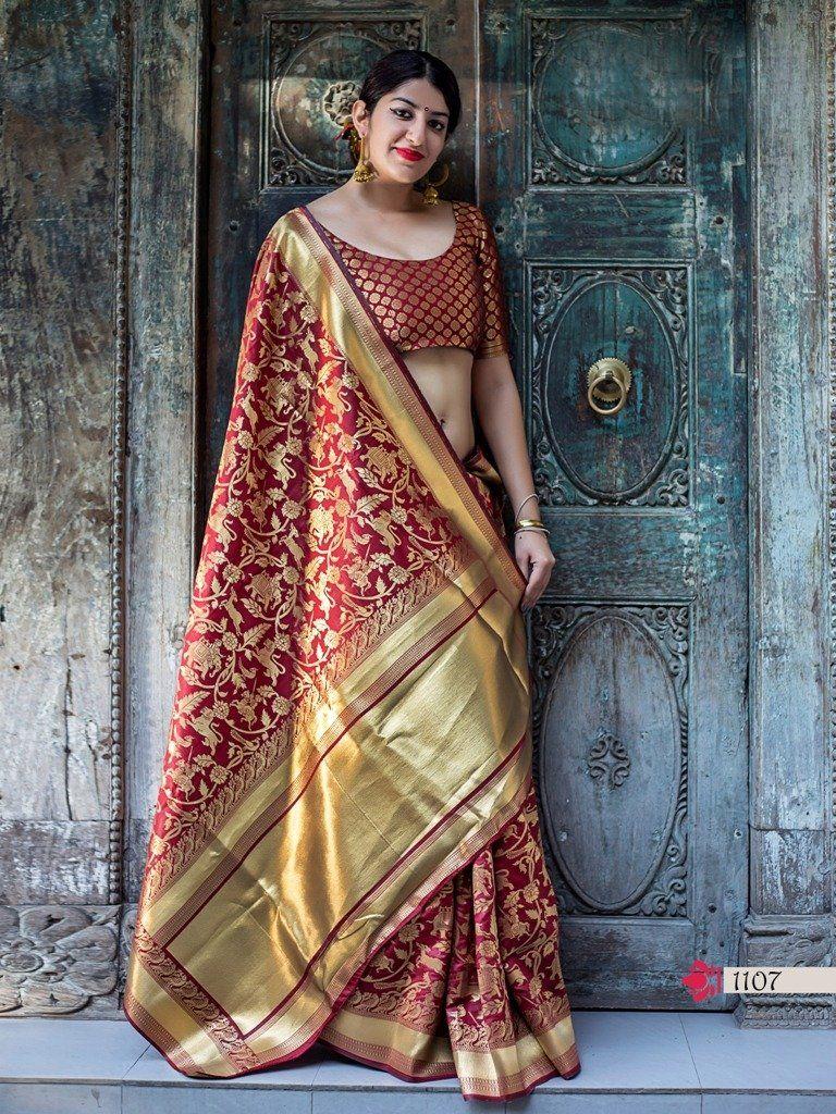 Yeola paithani saree images fantastic banarasi silk embroidered party wear saree  products