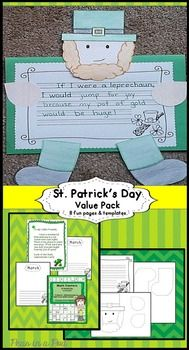 St. Patrick's Day ~ K, 1st, 2nd  activities!  A leprechaun writing / craftivity ~ Templates and writing pages • A letter from Larry the Leprechaun. At our school, we mess the room up, tip the chairs, sprinkle some glitter and leave this note from the leprechaun on St. Patrick's Day! • Two March stationary pages • 120's charts. https://www.teacherspayteachers.com/Product/St-Patricks-Day-1717867