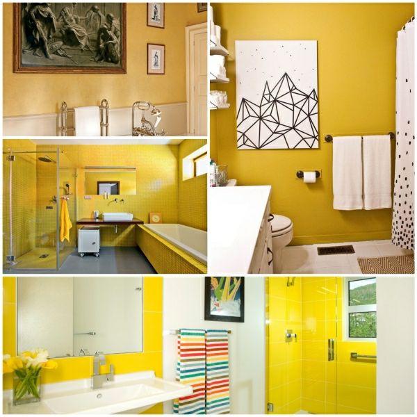 Wandfarbe Gelb Wandfarben Ideen Bad Einrichten