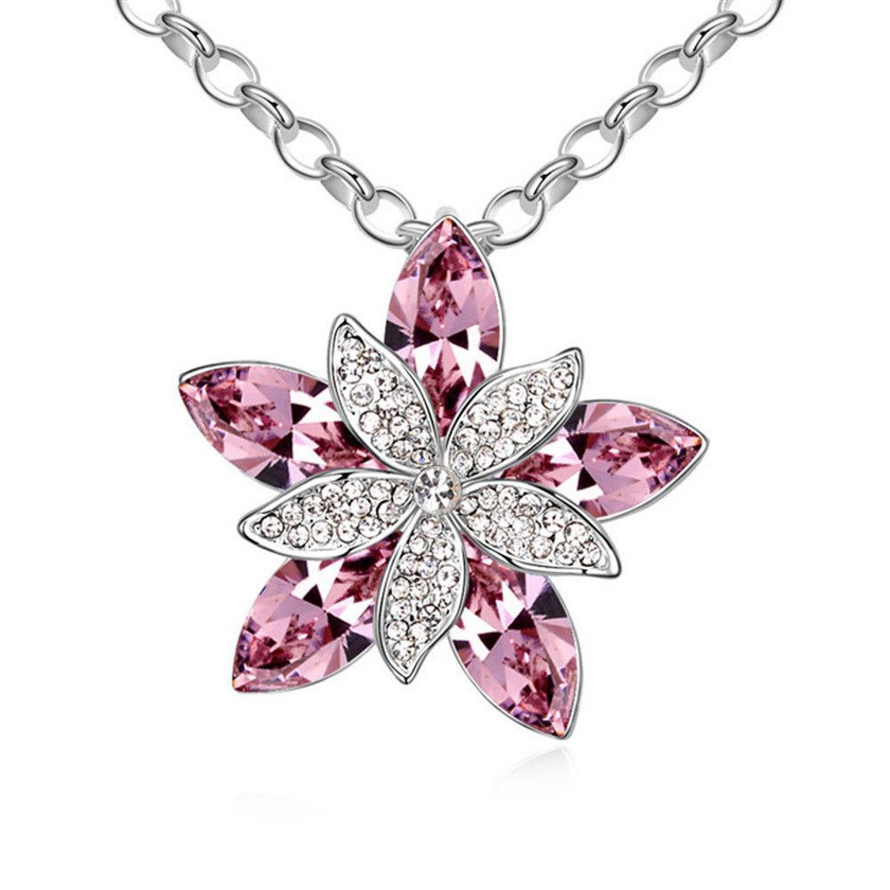 LOVER New Luxury Silver Plated Big Flower Imitation Crystal Long Sweater Chain Pendant Necklace imitation Gemstones may have been treated to improve their appearance or durability and may require special care. The natural properties and composition of mined gemstones define the unique beauty of each piece. The image may show slight differences to the actual stone in color and texture. Imported Intricate high polish creates glamorous reflections and adds a luxurious look to this earrings