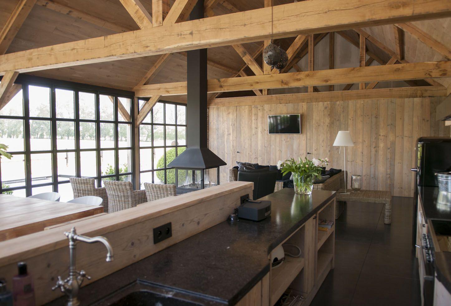 Poolhouse in hout google zoeken bijgebouwen for Houtskelet schuur