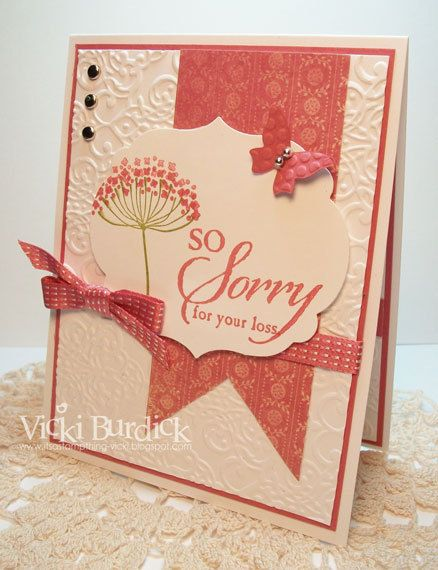 So Sorry For Your Loss Sorry Cards Stampin Up Cards